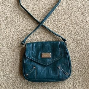 Unique Nine West Teal Leather Purse Great Cond.